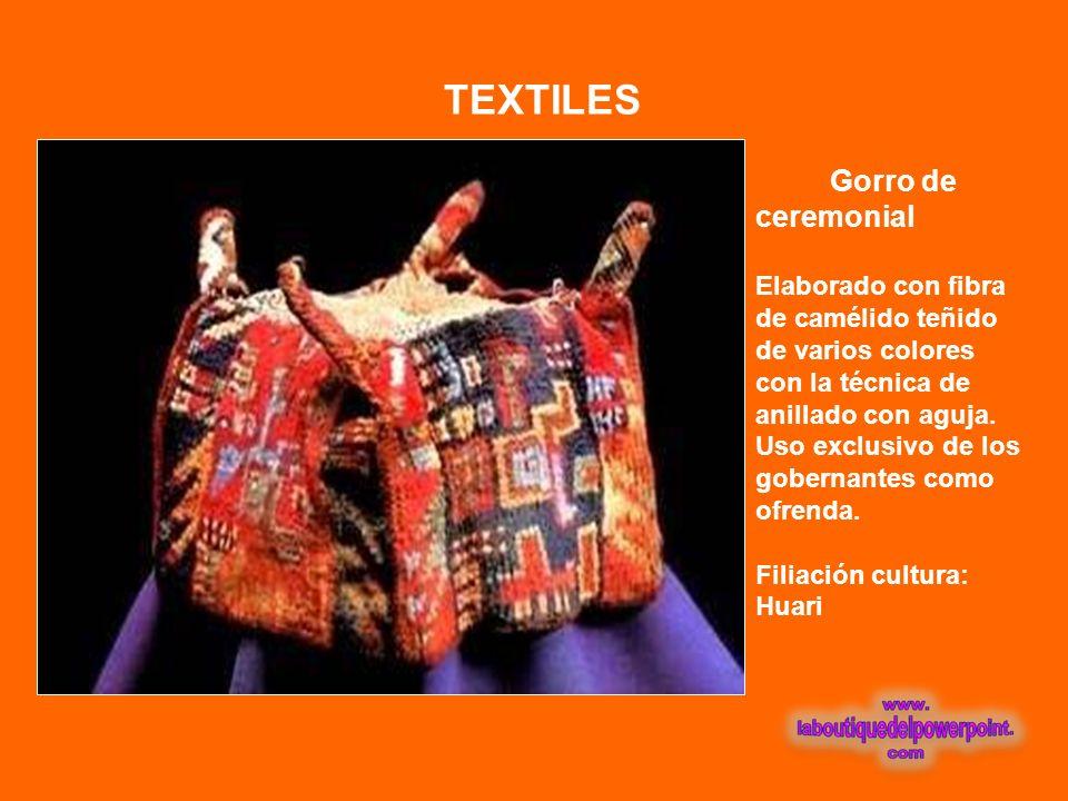 TEXTILES Gorro de ceremonial