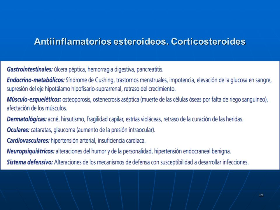 Antiinflamatorios esteroideos. Corticosteroides
