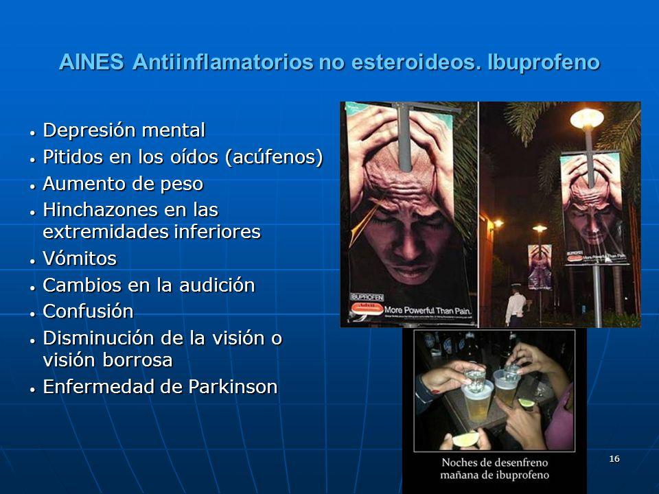 AINES Antiinflamatorios no esteroideos. Ibuprofeno