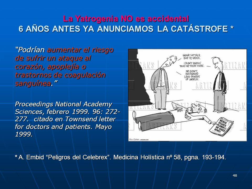 La Yatrogenia NO es accidental 6 AÑOS ANTES YA ANUNCIAMOS LA CATÁSTROFE *