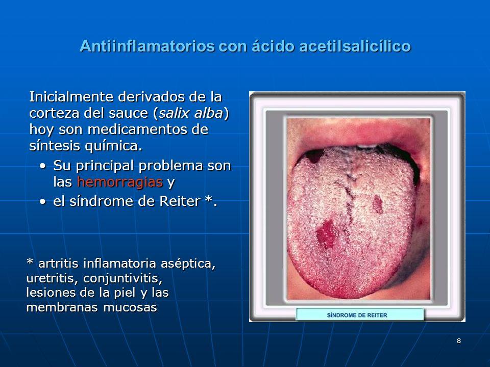 Antiinflamatorios con ácido acetilsalicílico