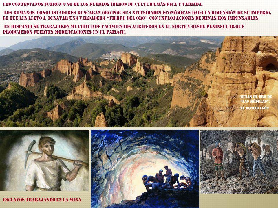 Esclavos trabajando en la mina