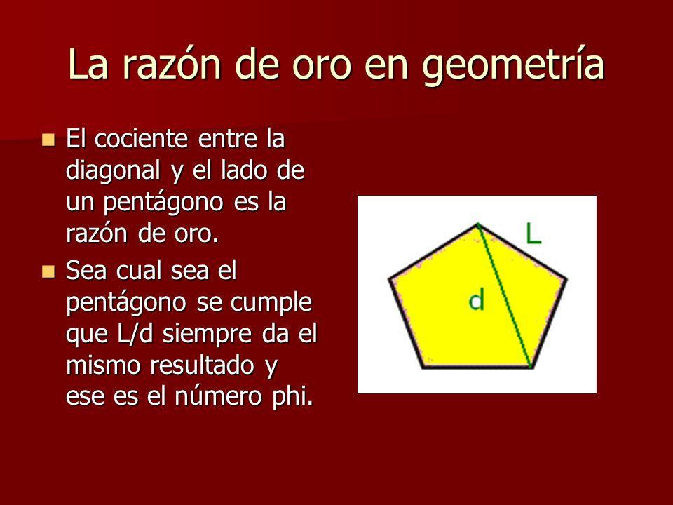 La razón de oro en geometría