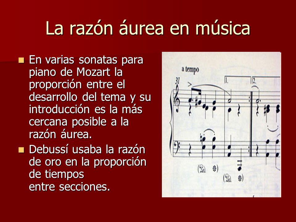 La razón áurea en música