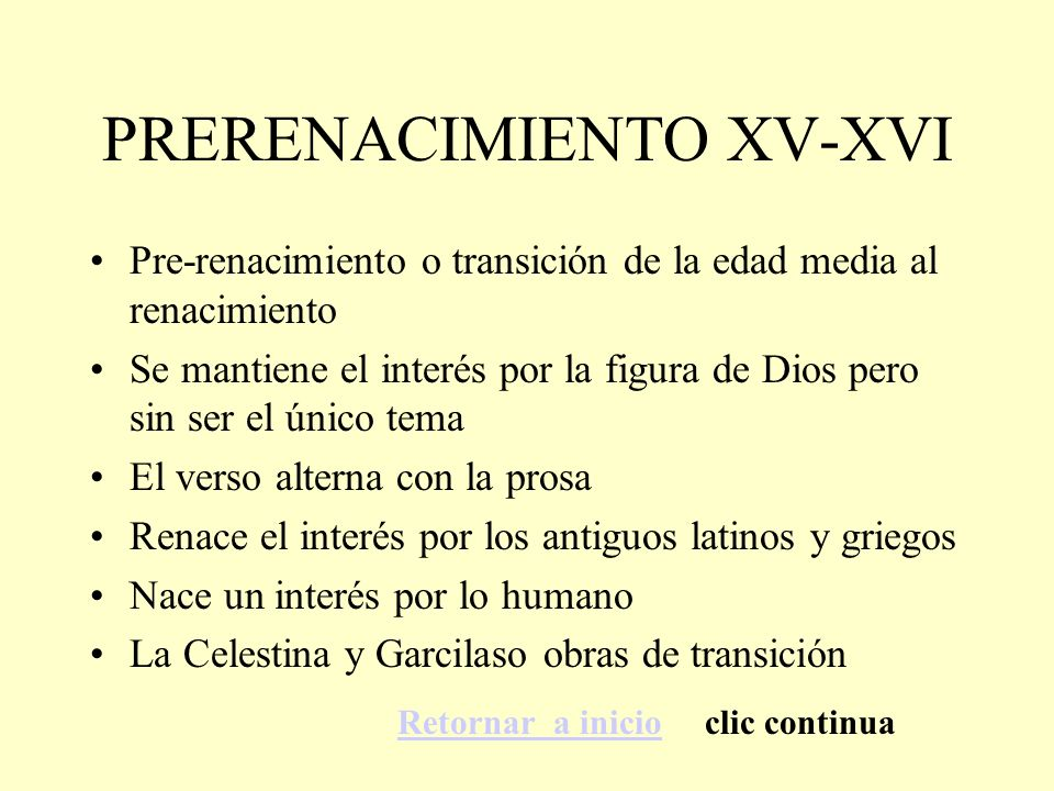 PRERENACIMIENTO XV-XVI