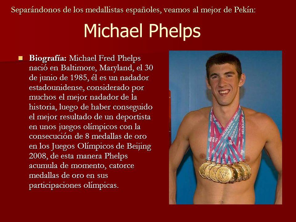 Separándonos de los medallistas españoles, veamos al mejor de Pekín: