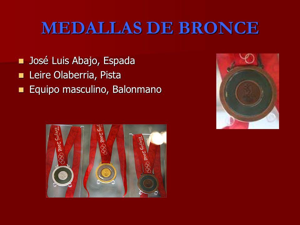 MEDALLAS DE BRONCE José Luis Abajo, Espada Leire Olaberria, Pista