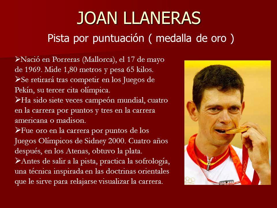 JOAN LLANERAS Pista por puntuación ( medalla de oro )