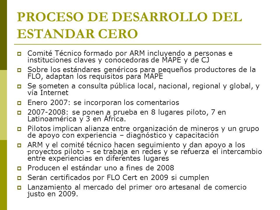 PROCESO DE DESARROLLO DEL ESTANDAR CERO