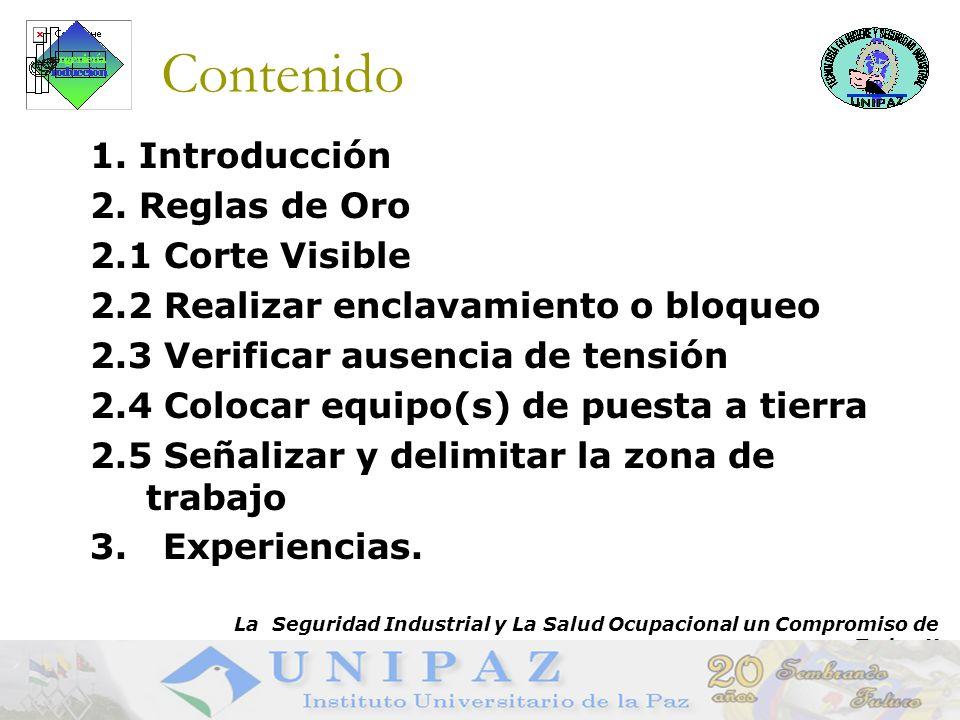 Contenido 1. Introducción 2. Reglas de Oro 2.1 Corte Visible