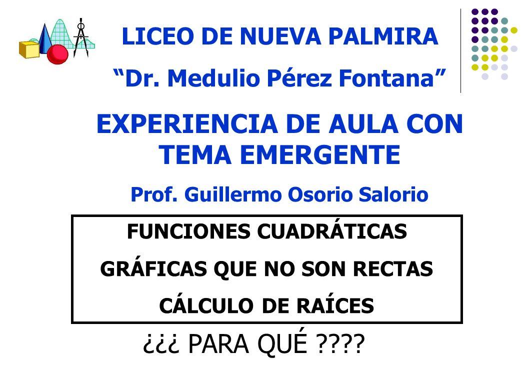 EXPERIENCIA DE AULA CON TEMA EMERGENTE