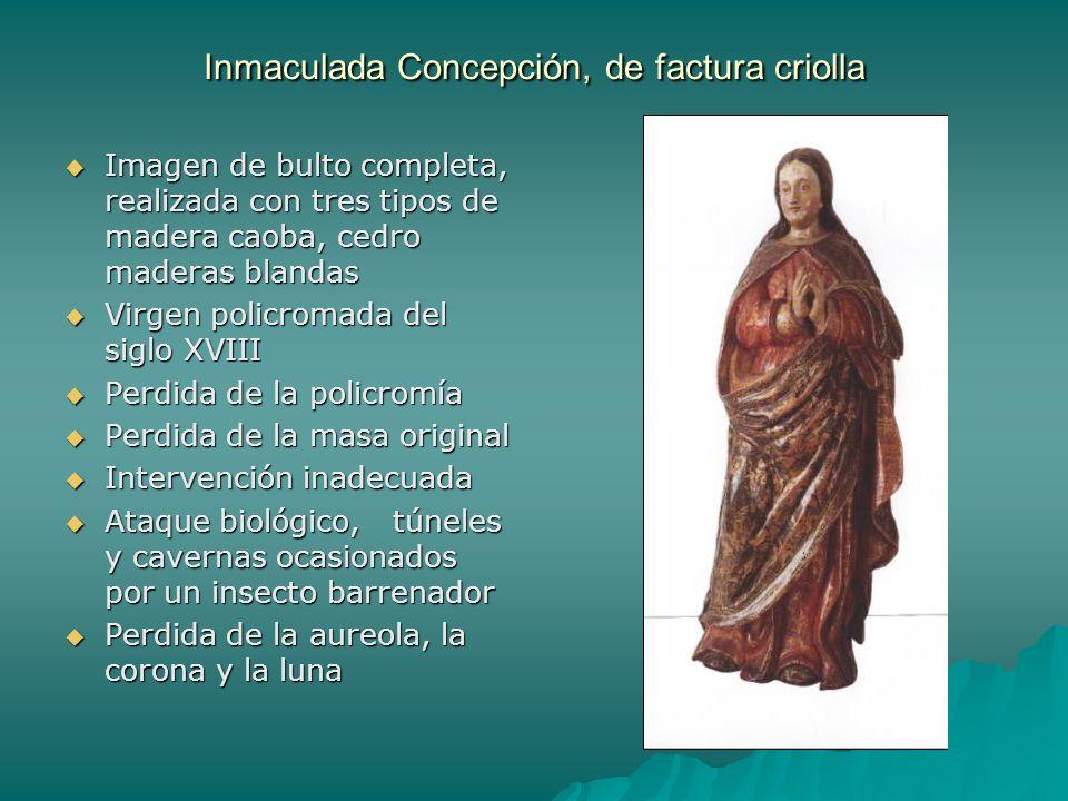 Inmaculada Concepción, de factura criolla