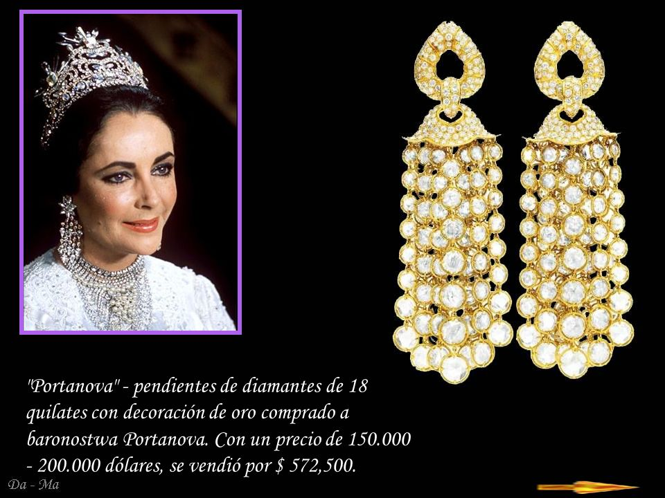 Portanova - pendientes de diamantes de 18 quilates con decoración de oro comprado a baronostwa Portanova.