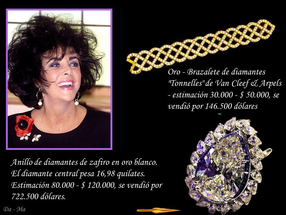 Oro - Brazalete de diamantes Tonnelles de Van Cleef & Arpels - estimación 30.000 - $ 50.000, se vendió por 146.500 dólares