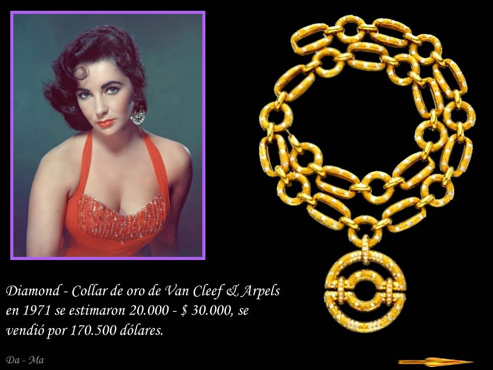 Diamond - Collar de oro de Van Cleef & Arpels en 1971 se estimaron 20
