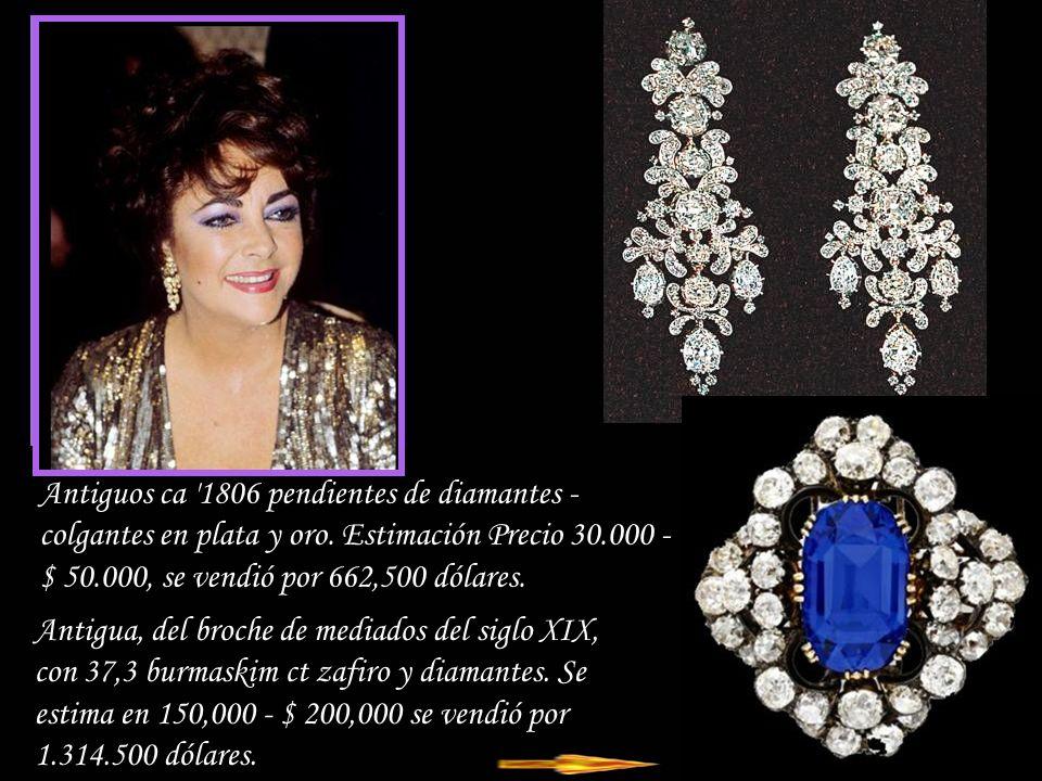 Antiguos ca 1806 pendientes de diamantes - colgantes en plata y oro