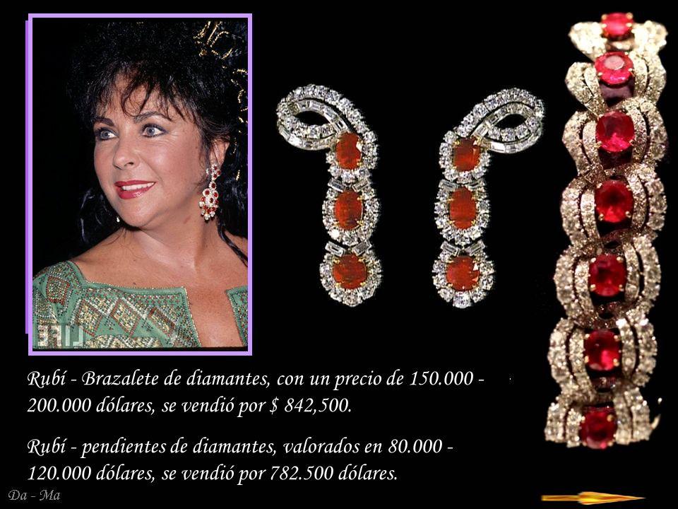Rubí - Brazalete de diamantes, con un precio de 150. 000 - 200