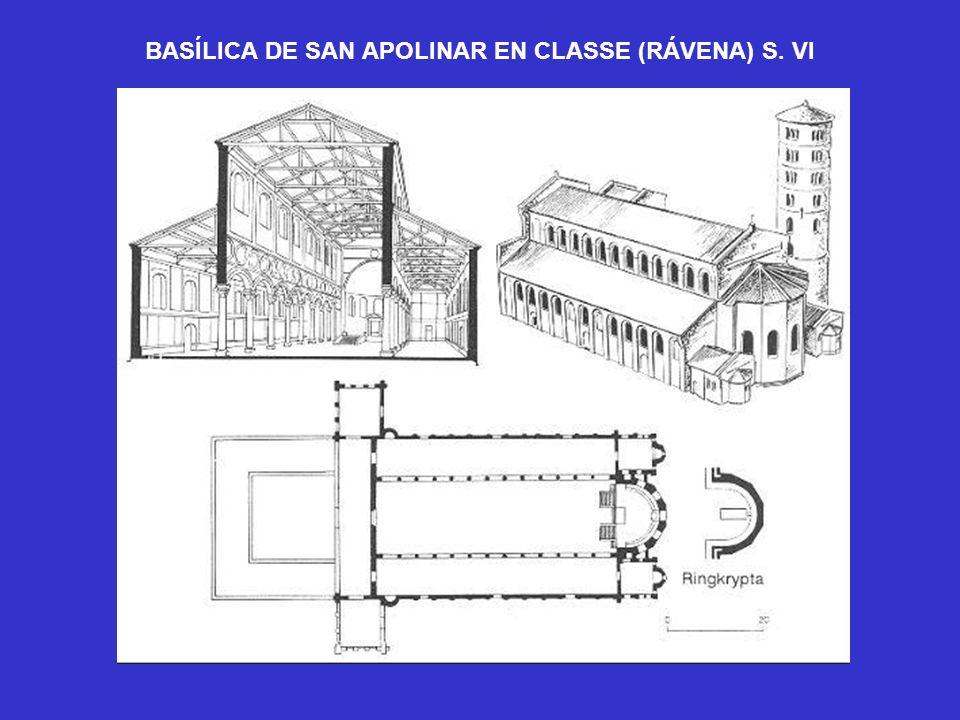 BASÍLICA DE SAN APOLINAR EN CLASSE (RÁVENA) S. VI