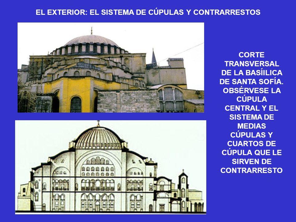 EL EXTERIOR: EL SISTEMA DE CÚPULAS Y CONTRARRESTOS
