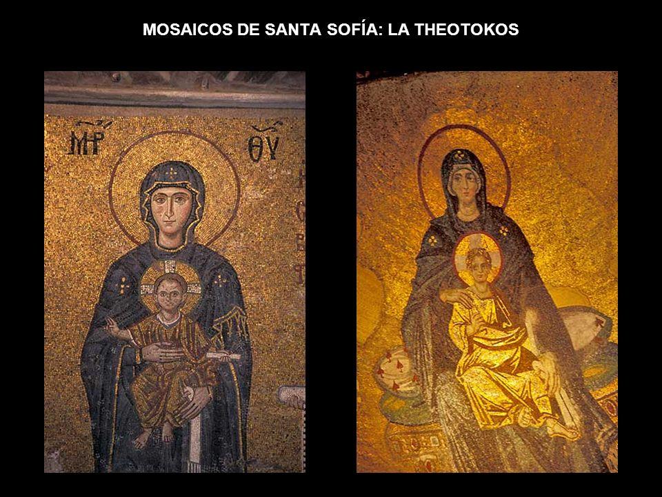 MOSAICOS DE SANTA SOFÍA: LA THEOTOKOS