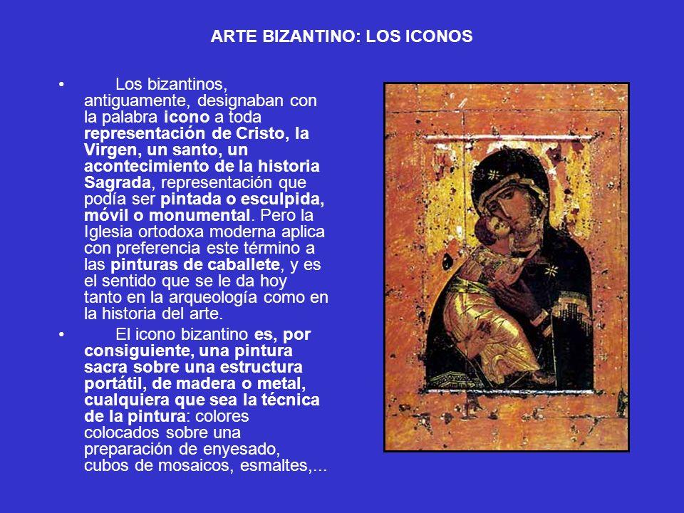 ARTE BIZANTINO: LOS ICONOS