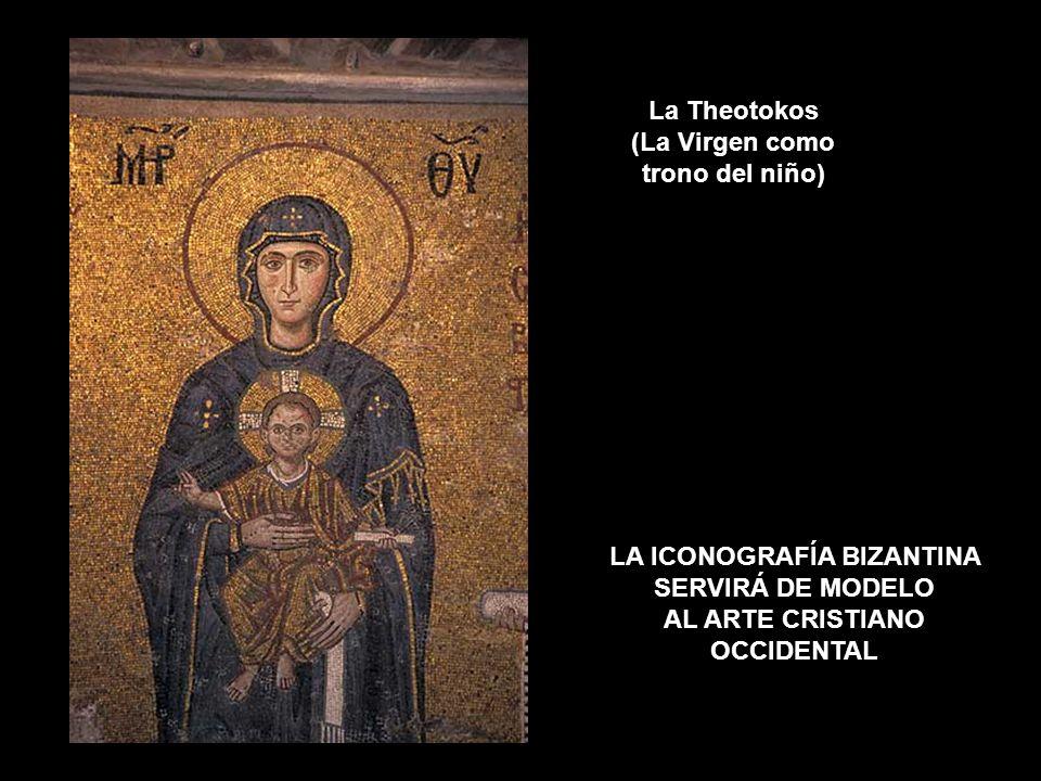 La Theotokos (La Virgen como trono del niño)