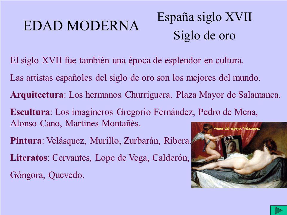 España siglo XVII Siglo de oro