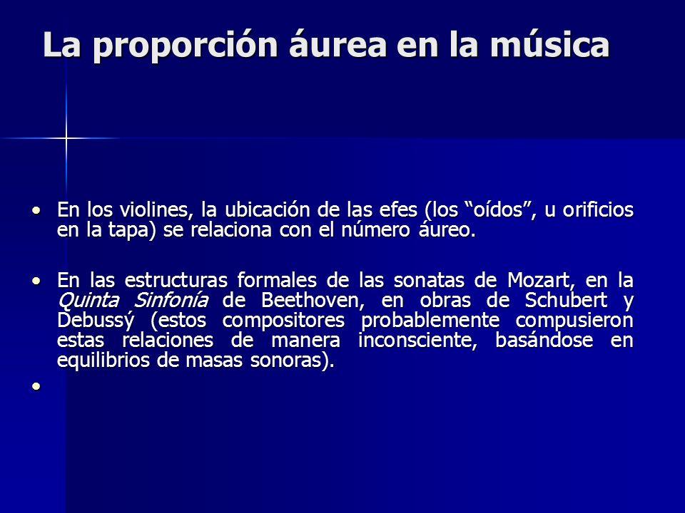 La proporción áurea en la música
