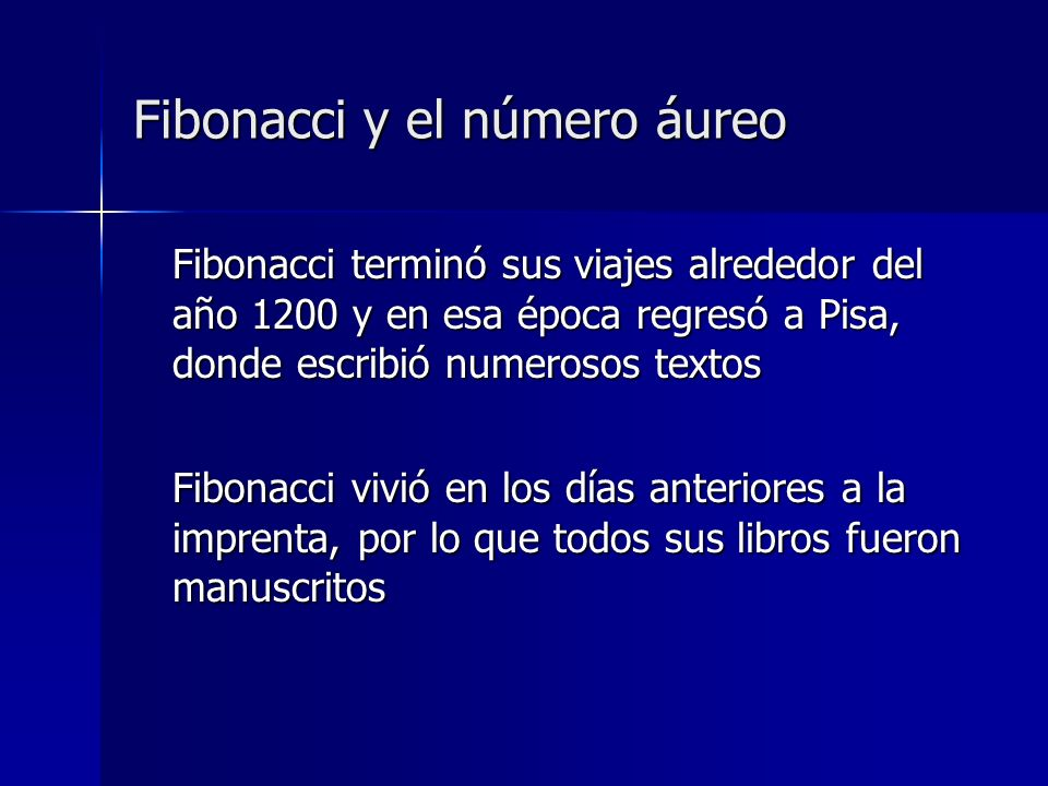Fibonacci y el número áureo