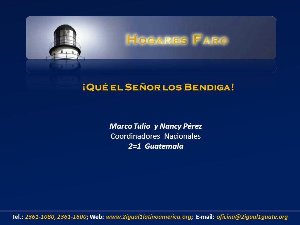 ¡Qué el Señor los Bendiga! Marco Tulio y Nancy Pérez