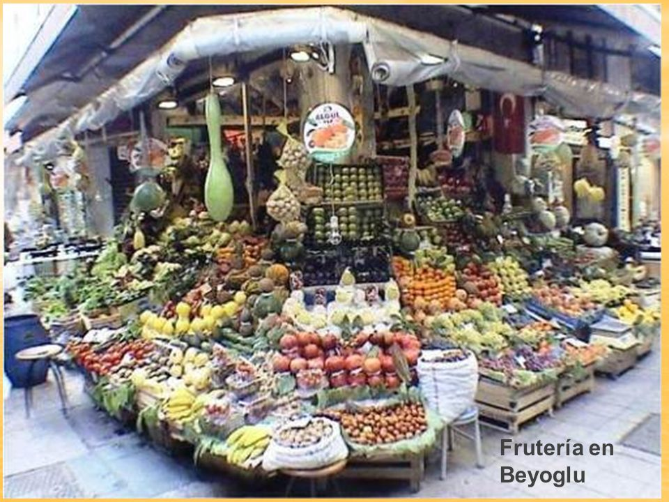 Frutería en Beyoglu