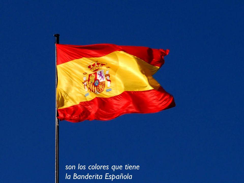 son los colores que tiene la Banderita Española