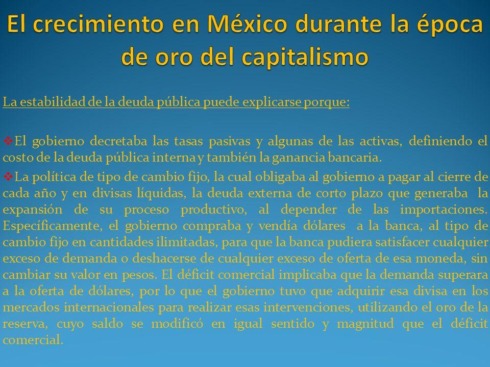 El crecimiento en México durante la época de oro del capitalismo