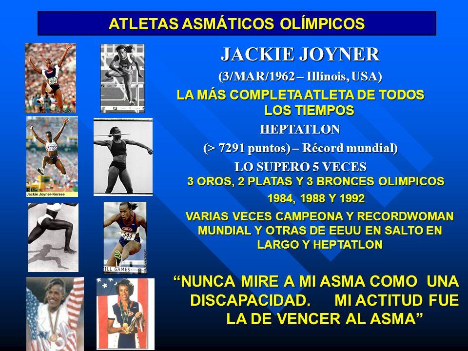 JACKIE JOYNER ATLETAS ASMÁTICOS OLÍMPICOS