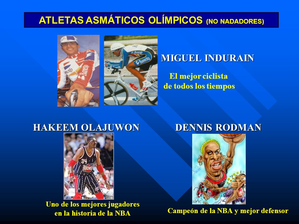ATLETAS ASMÁTICOS OLÍMPICOS (NO NADADORES)