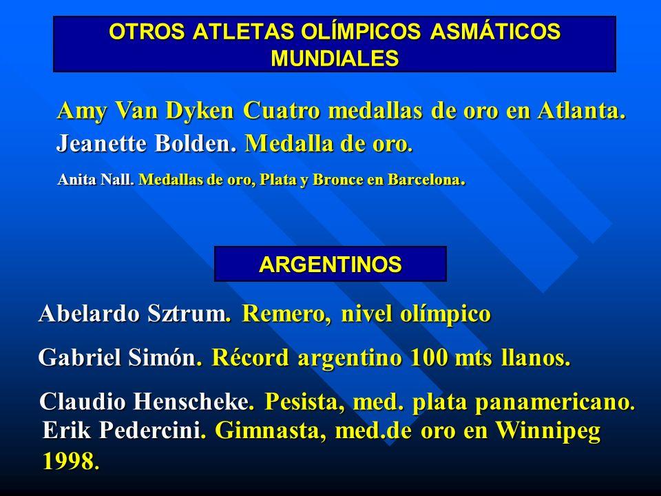 OTROS ATLETAS OLÍMPICOS ASMÁTICOS MUNDIALES