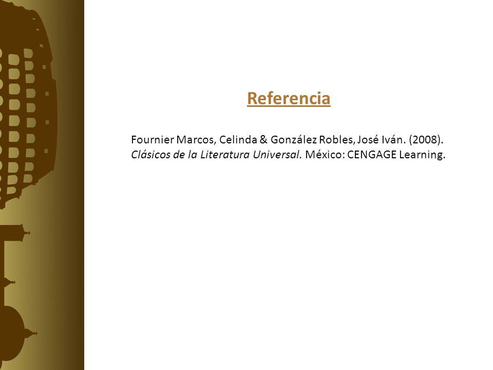 Referencia Fournier Marcos, Celinda & González Robles, José Iván.