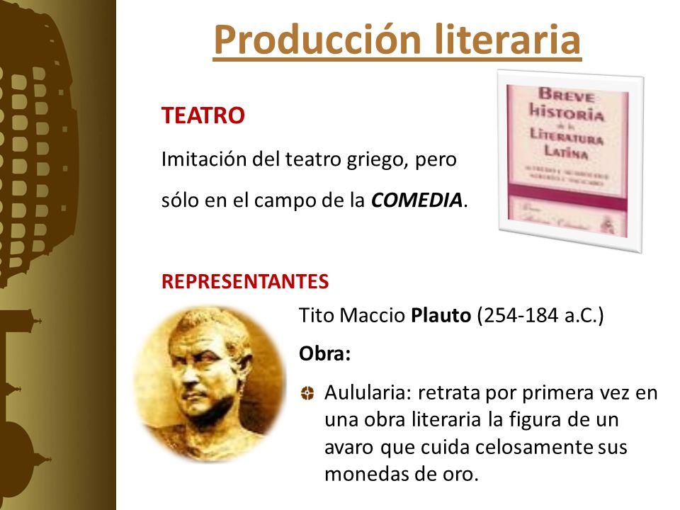 Producción literaria TEATRO