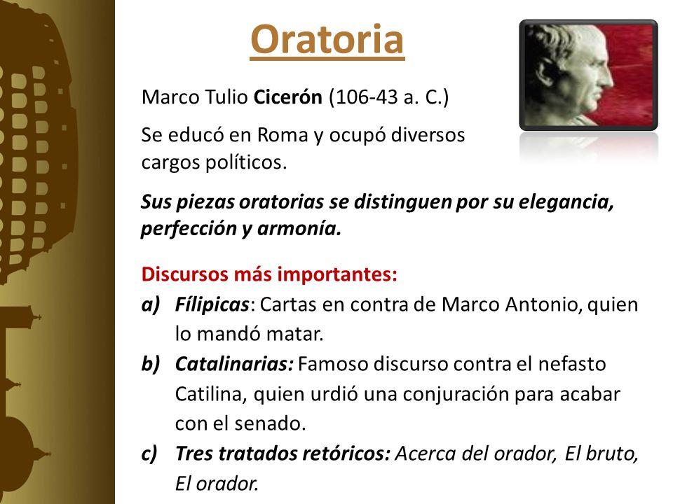 Oratoria Marco Tulio Cicerón (106-43 a. C.)