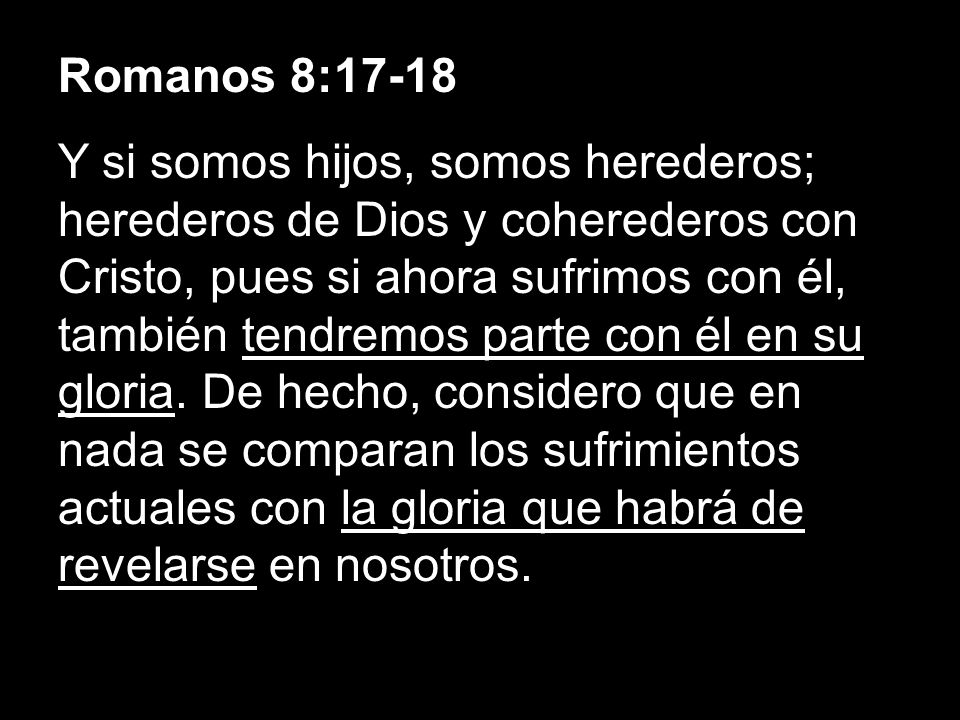 Romanos 8:17-18