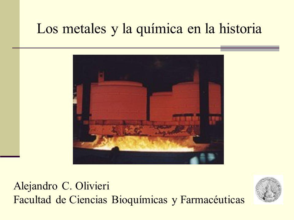Los metales y la química en la historia