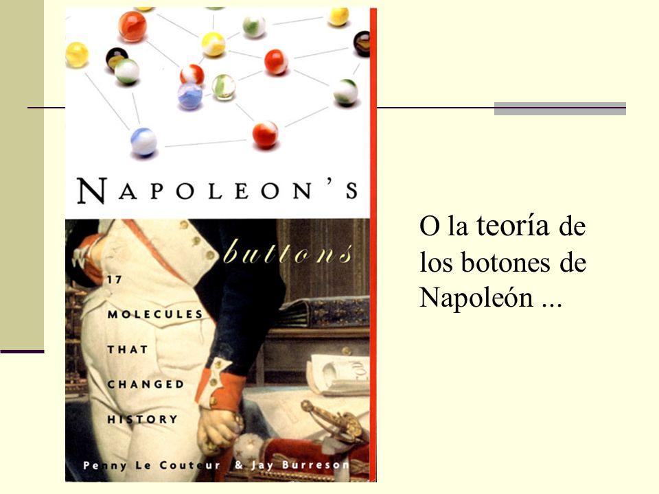 O la teoría de los botones de Napoleón ...