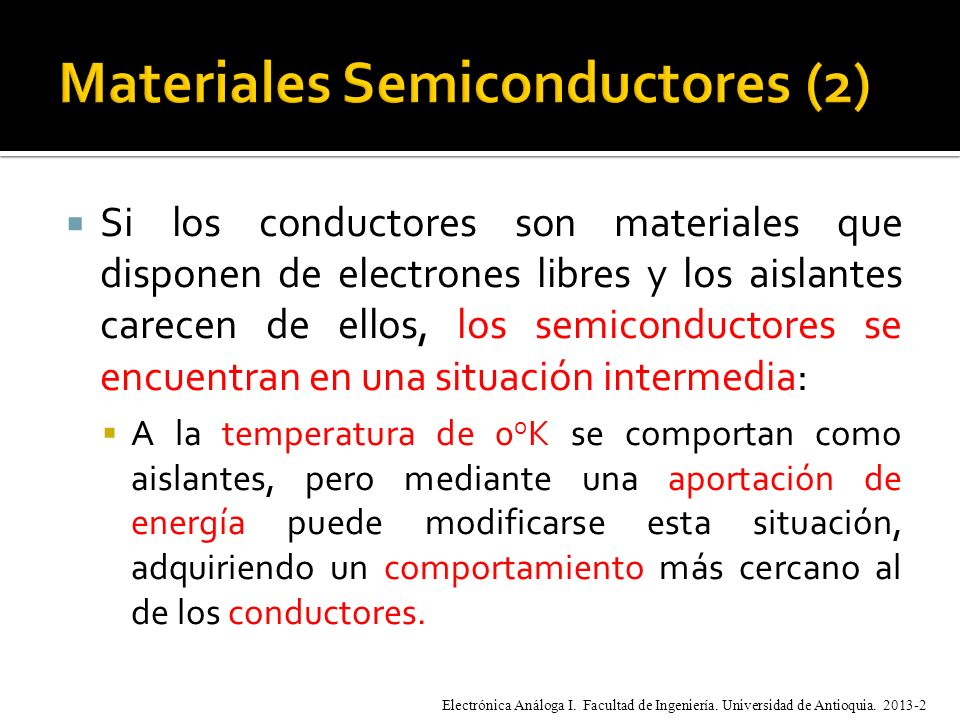 Materiales Semiconductores (2)