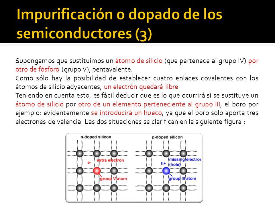 Impurificación o dopado de los semiconductores (3)