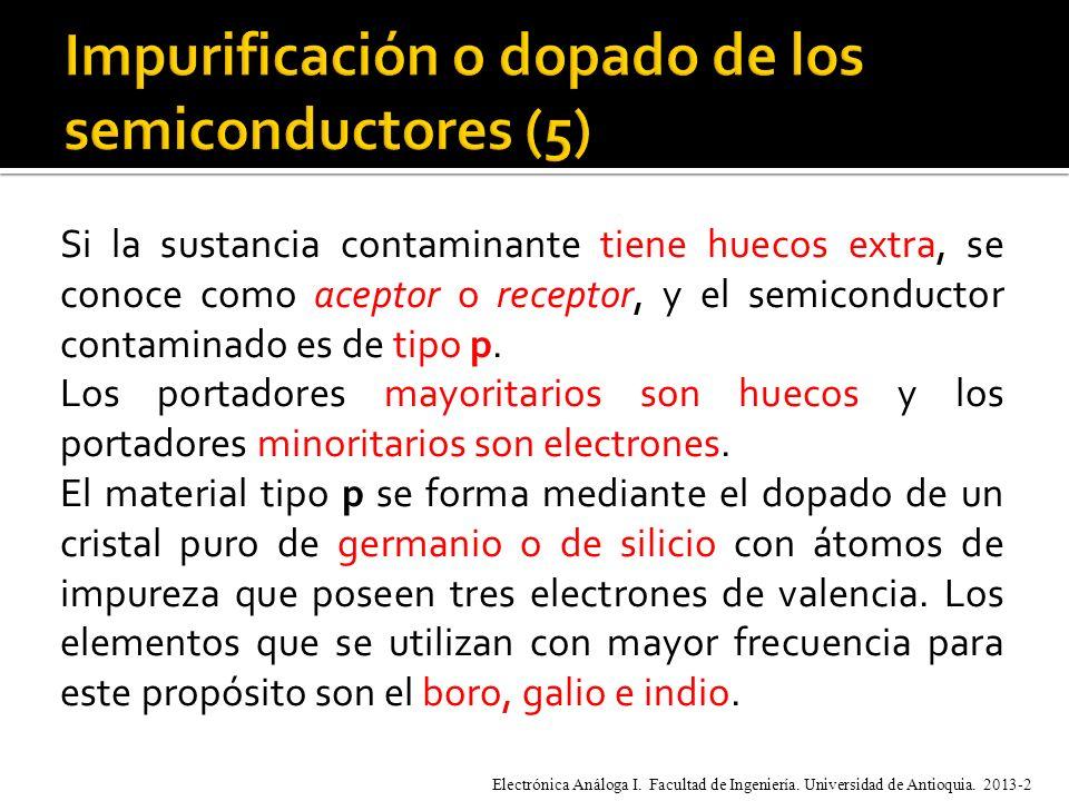 Impurificación o dopado de los semiconductores (5)