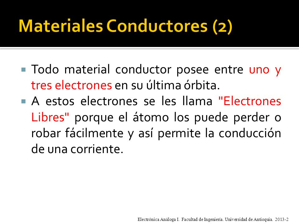Materiales Conductores (2)