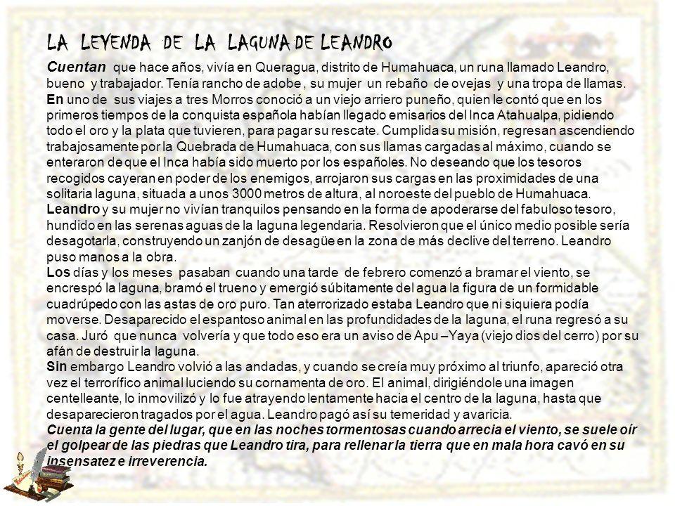 LA LEYENDA DE LA LAGUNA DE LEANDRO