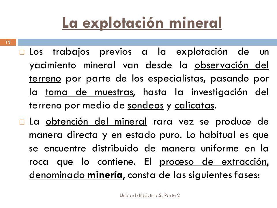 La explotación mineral