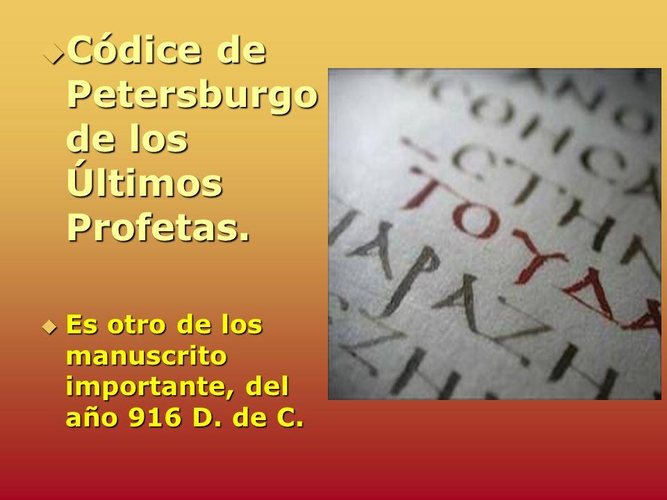 Códice de Petersburgo de los Últimos Profetas.