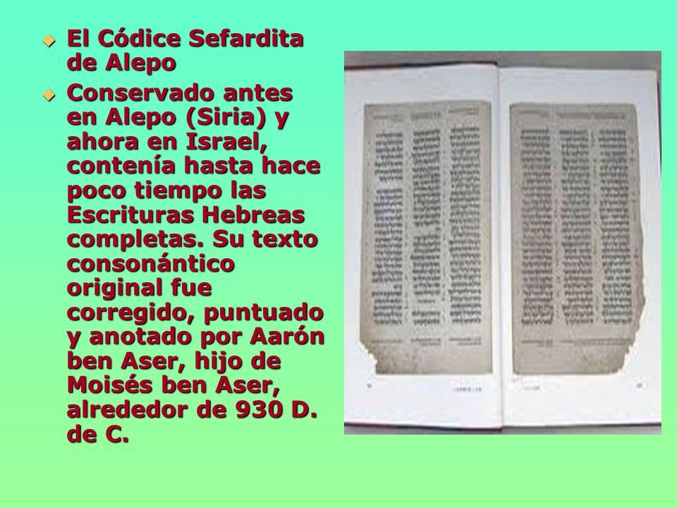 El Códice Sefardita de Alepo